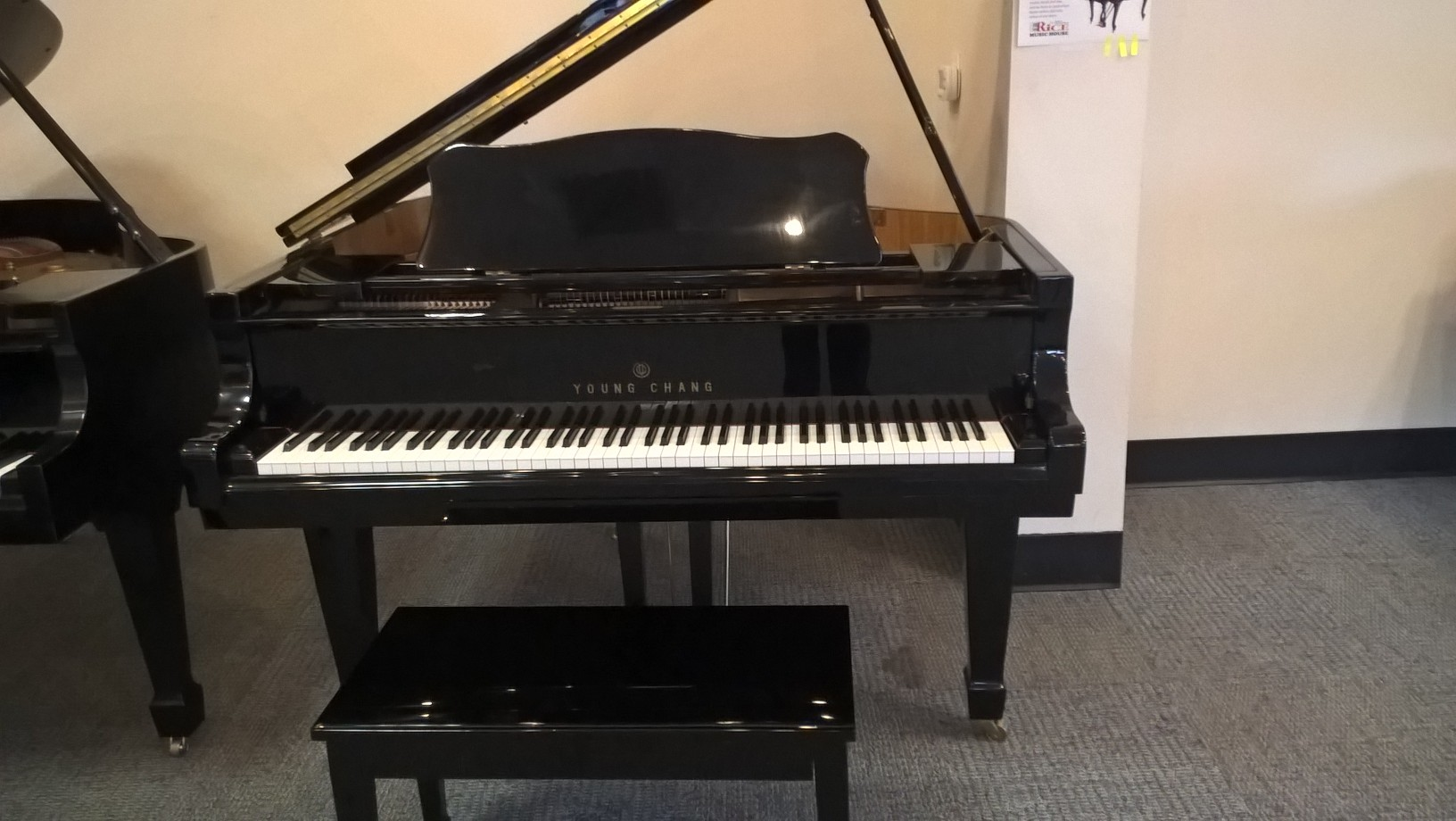 rice music house used young chang baby grand piano. Black Bedroom Furniture Sets. Home Design Ideas