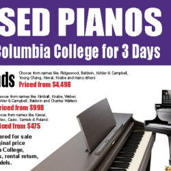 Columbia College Piano Sale