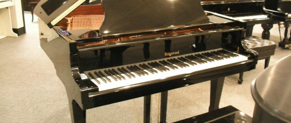 Rice Music House Used Ridgewood Baby Grand Piano Black