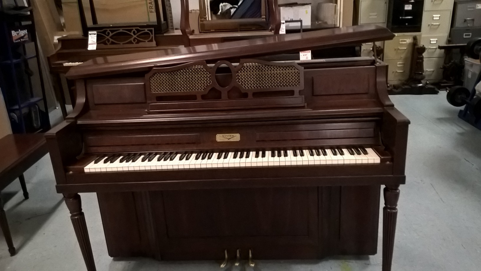 Used 1983 Winter Console Piano In Cherry Satin Just Sold
