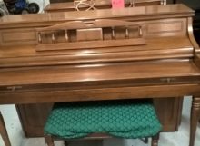 Classic Early American Cherry Artist Console Piano by Kimball