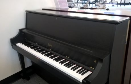 Used piano Designed By Steinway, the Boston studio piano in Classic Black.